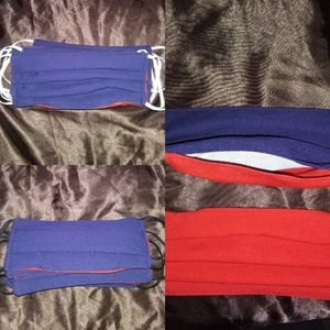 Navy Blue/Red Mask